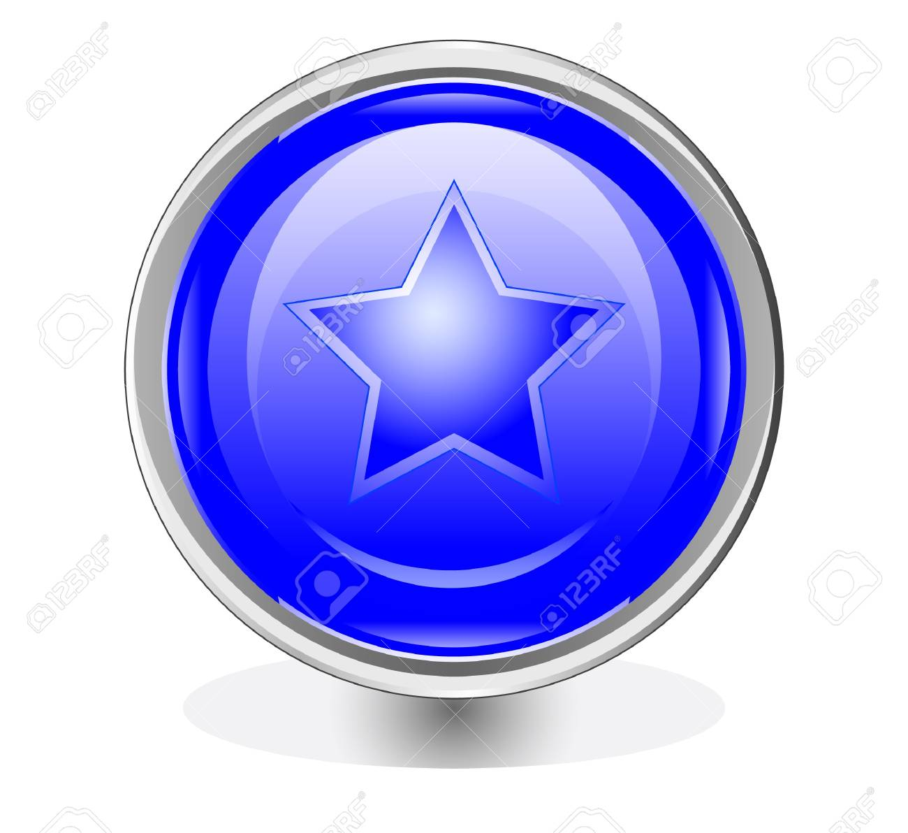 the blue beautiful button Stock Vector - 17822674