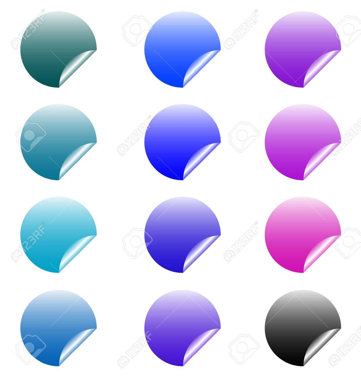 set of design elements, stickers Stock Vector - 17822740