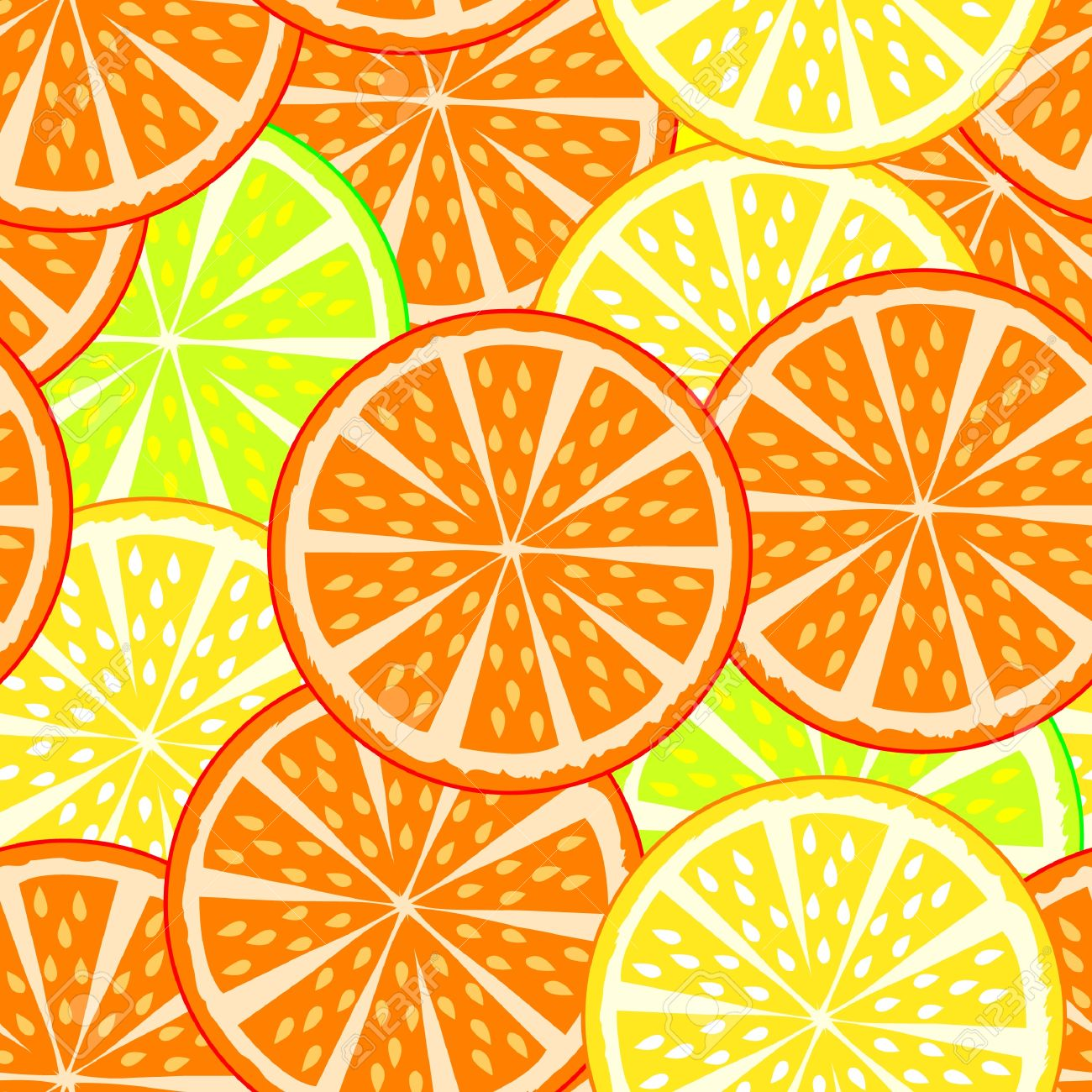 oranges and lemons, seamless texture Stock Vector - 17822809
