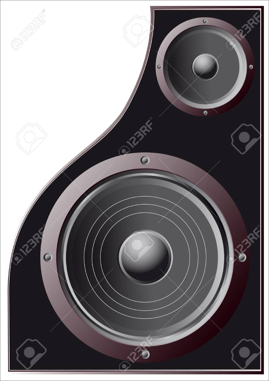speakers, low and high frequencies Stock Vector - 17822631