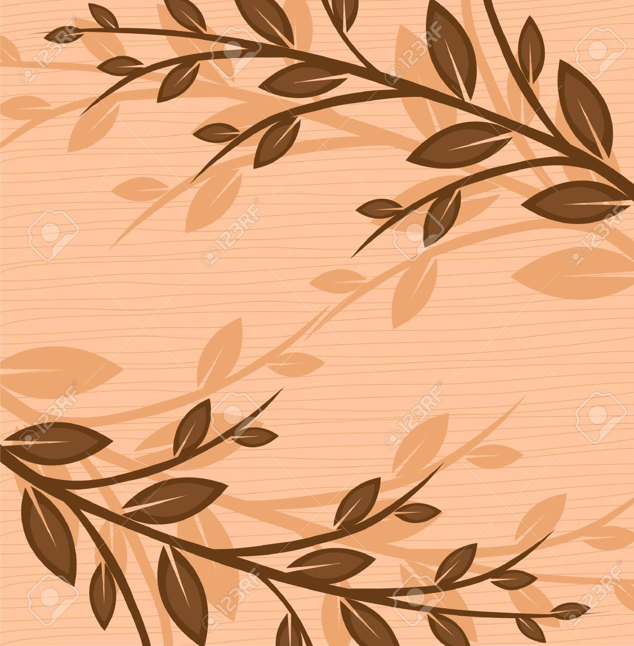 Branch of a plant, the Japanese style, background Stock Vector - 17822909