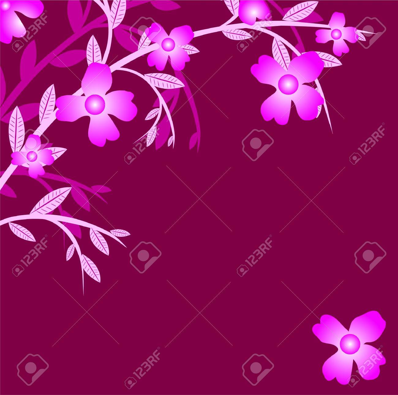Branch of a plant, the Japanese style, background Stock Vector - 17822920