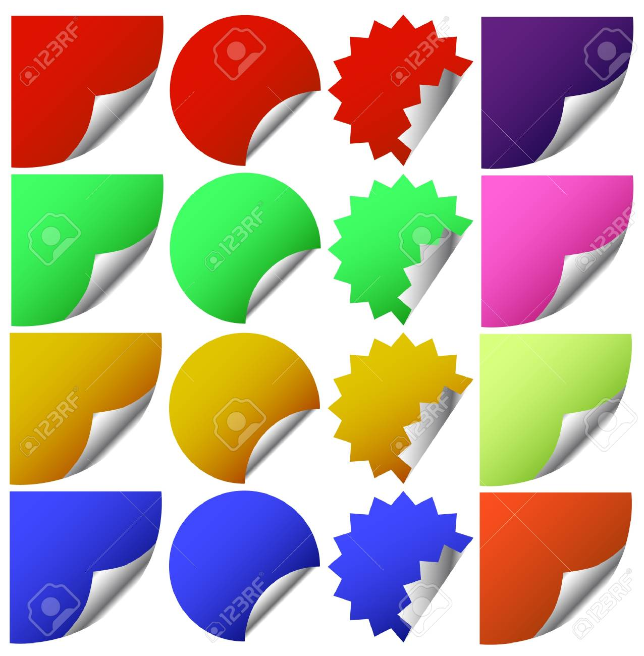 Set of vector stickers with corners Stock Vector - 17822874