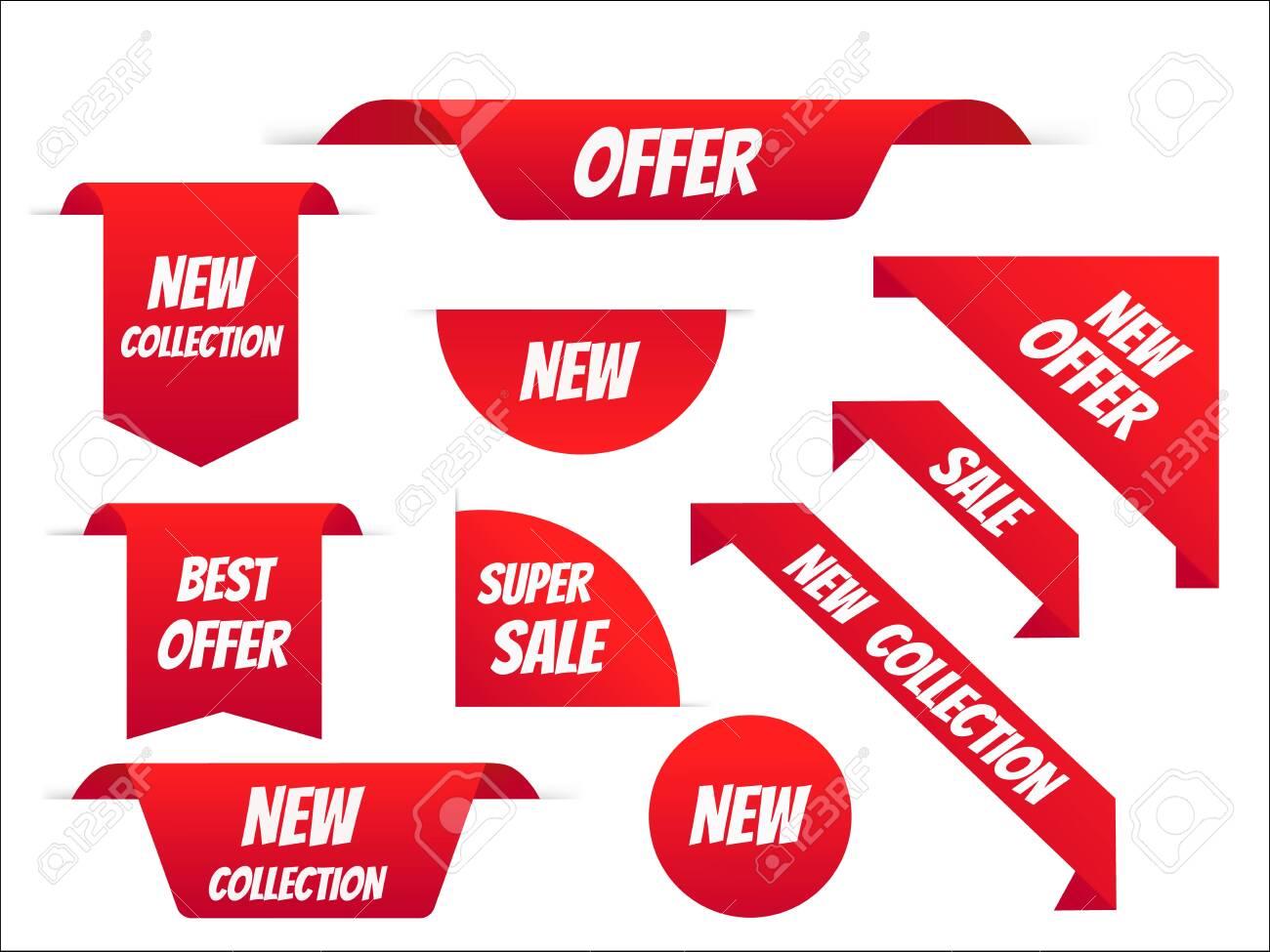 New tag ribbon and banner vector. Big sale special offer. end of season special offer banner. vector illustration. - 142508481
