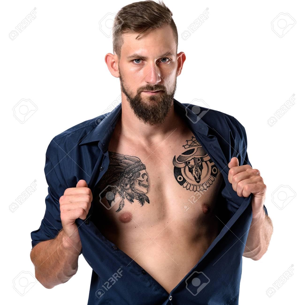 homme tatouage recherche)