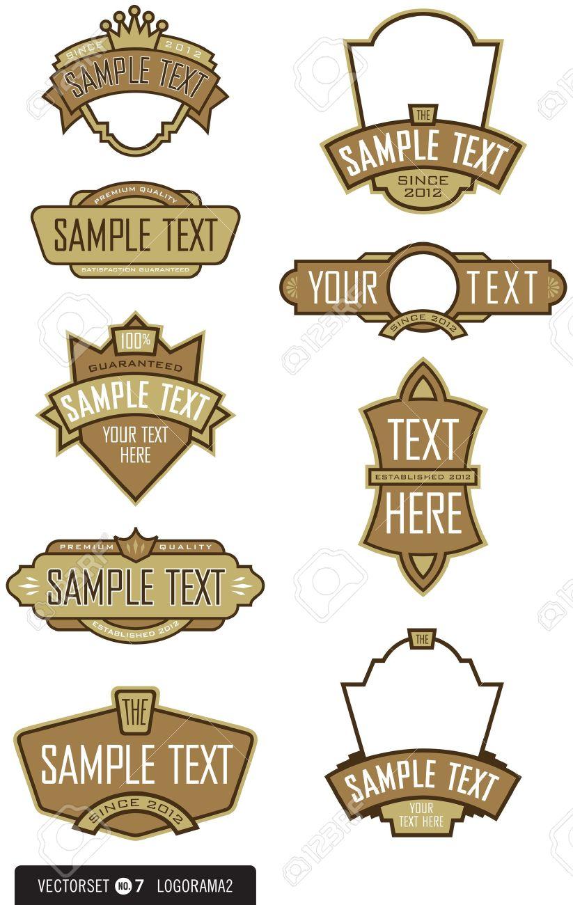abbastanza Set Di 9 Elementi Dell'etichetta Logo Design Per Loghi, Etichette  FD51