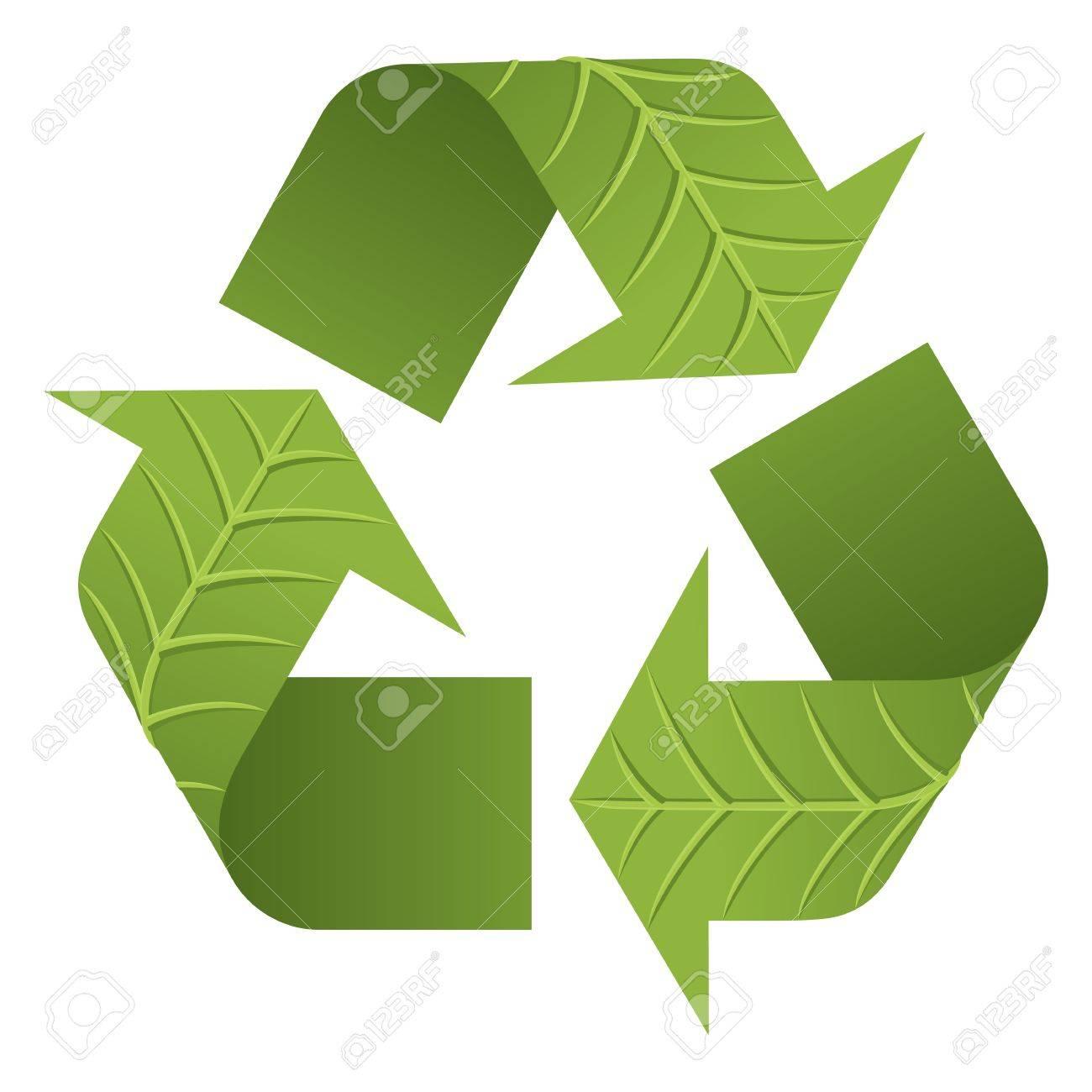 Logo De La Hoja De Reciclaje. El Recicle El Logotipo Icónico Con ...