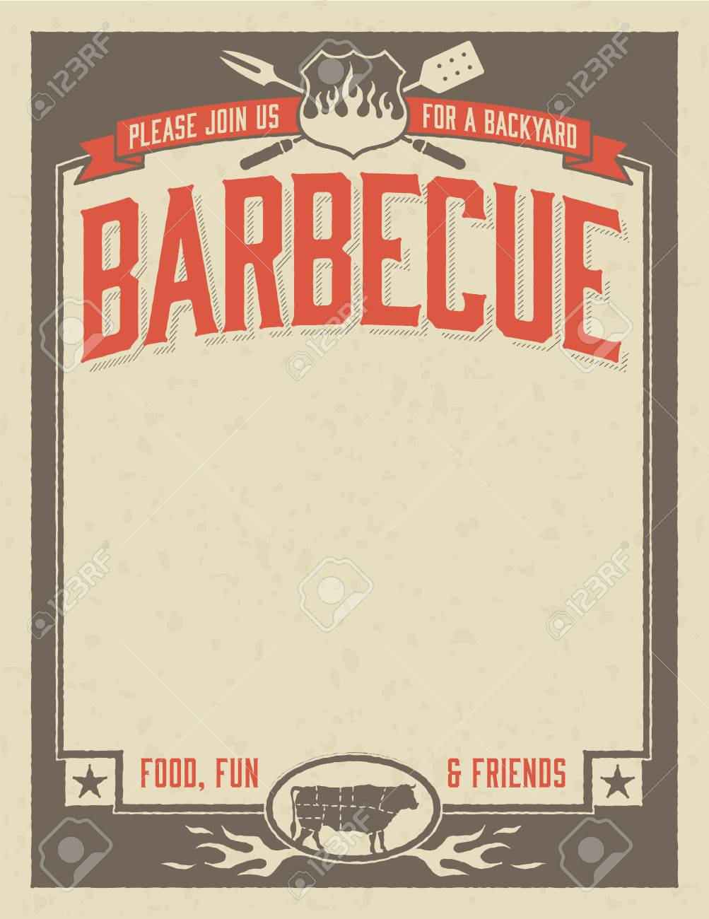 Bbq Invitation Template | Backyard Barbecue Invitation Template Royalty Free Cliparts Vectors
