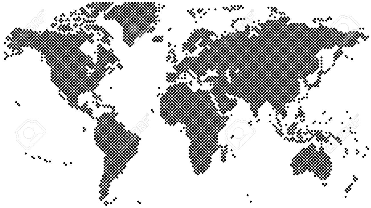 Black halftone world map vector illustration royalty free cliparts black halftone world map vector illustration stock vector 67913508 gumiabroncs Image collections