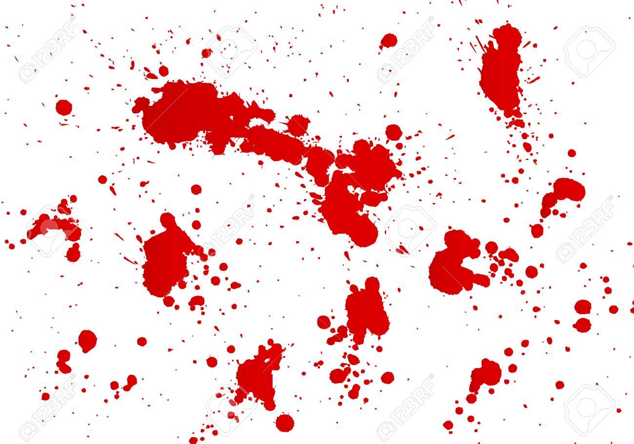 血飛沫ベクトル図のスケッチからトレース ハンドメイドのイラスト素材