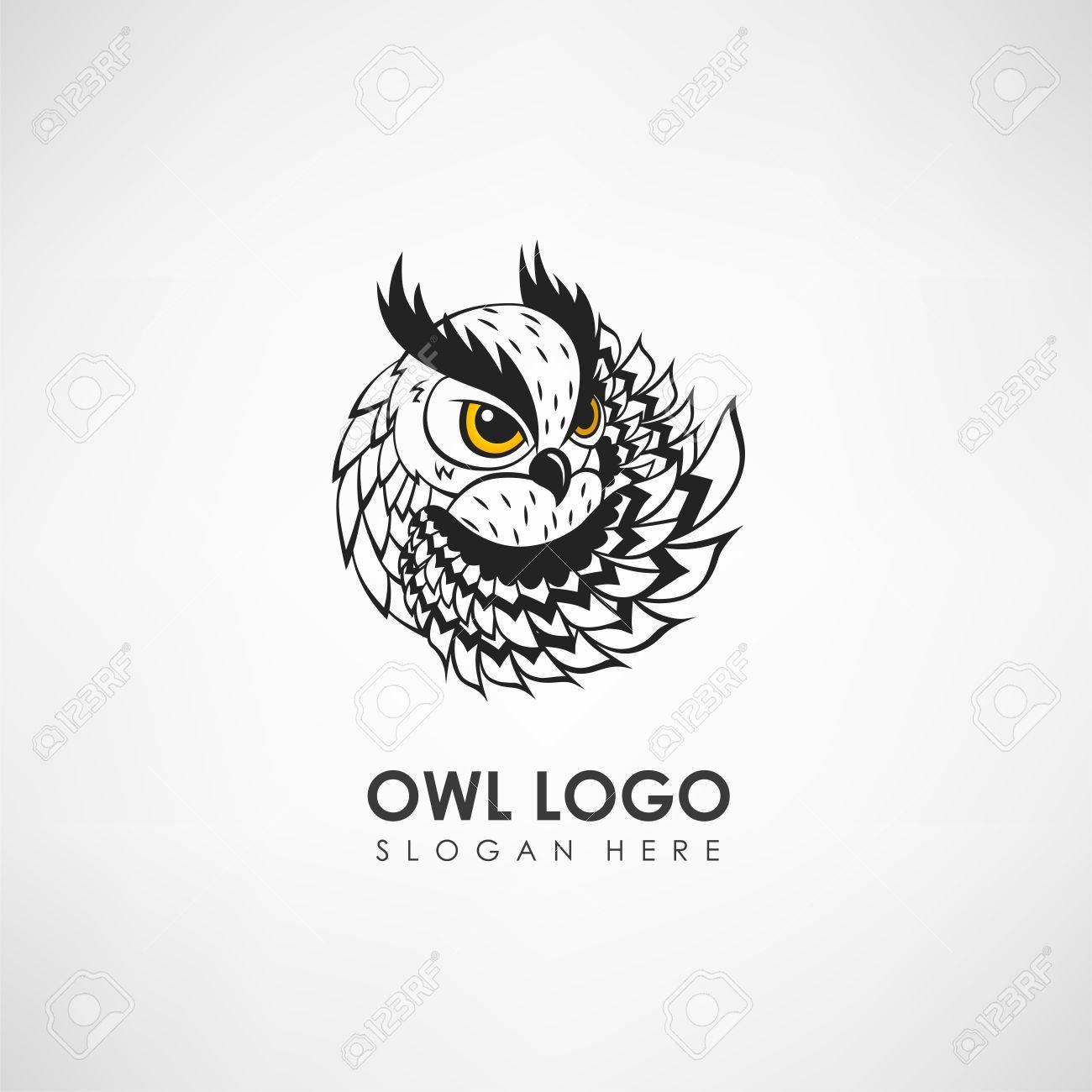 Eule Konzept Logo Vorlage. Label Für Unternehmen Oder Organisation ...
