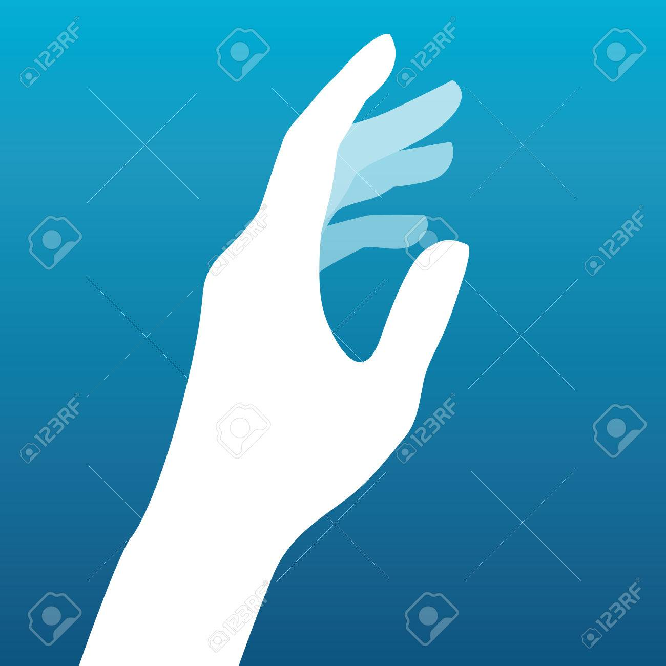 Lady hand silhouette vector - 50998980