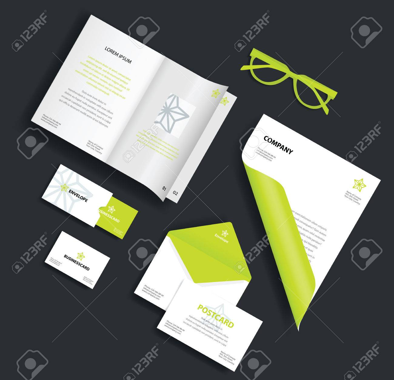 Corporate Identity Template. Vector Company Style For Brand Book ...