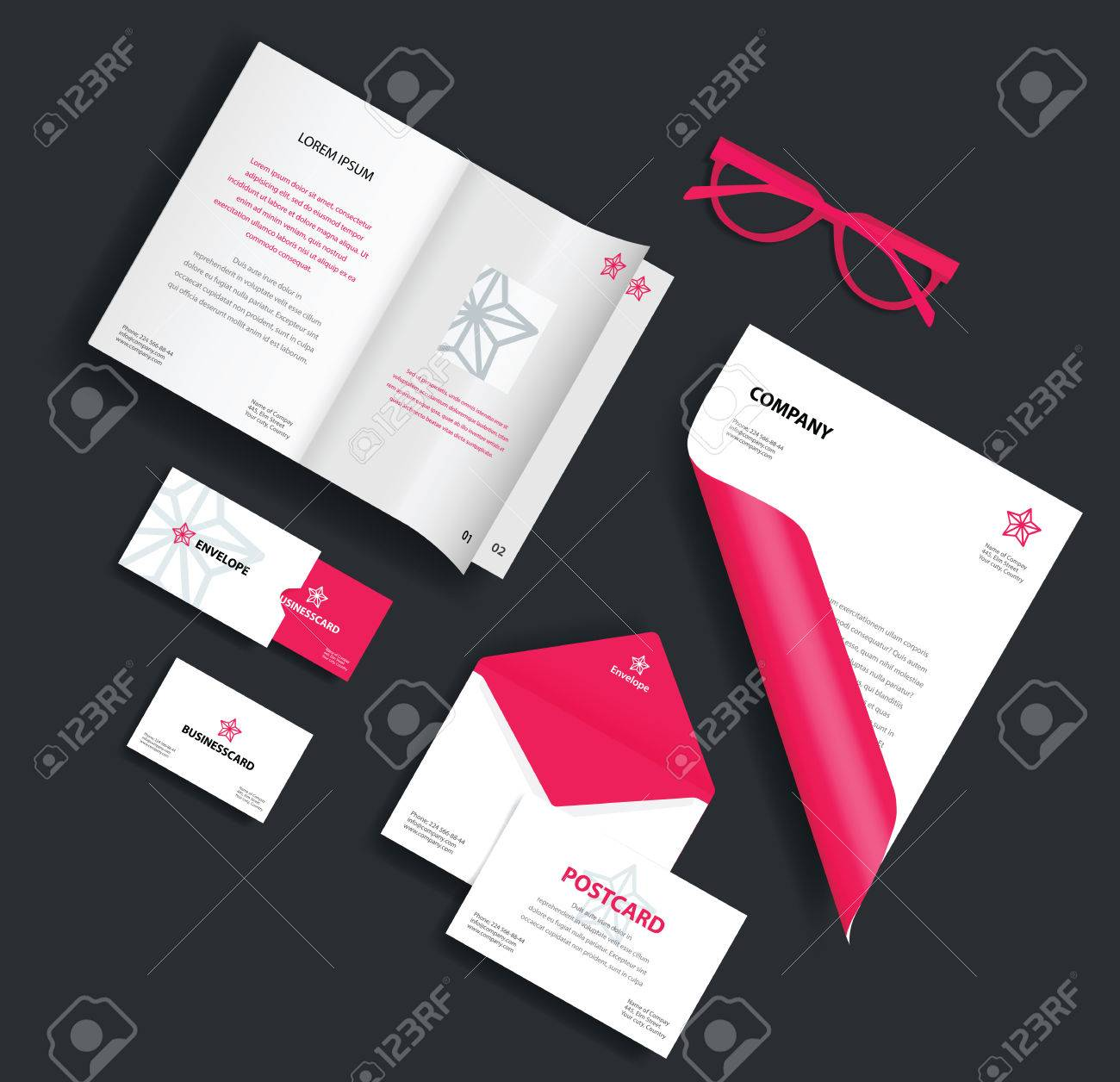 corporate identity template vector company style for brand book
