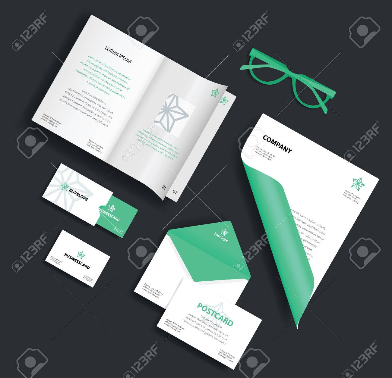 Corporate identity template vector company style for brand book vector company style for brand book and guideline envelope business reheart Image collections