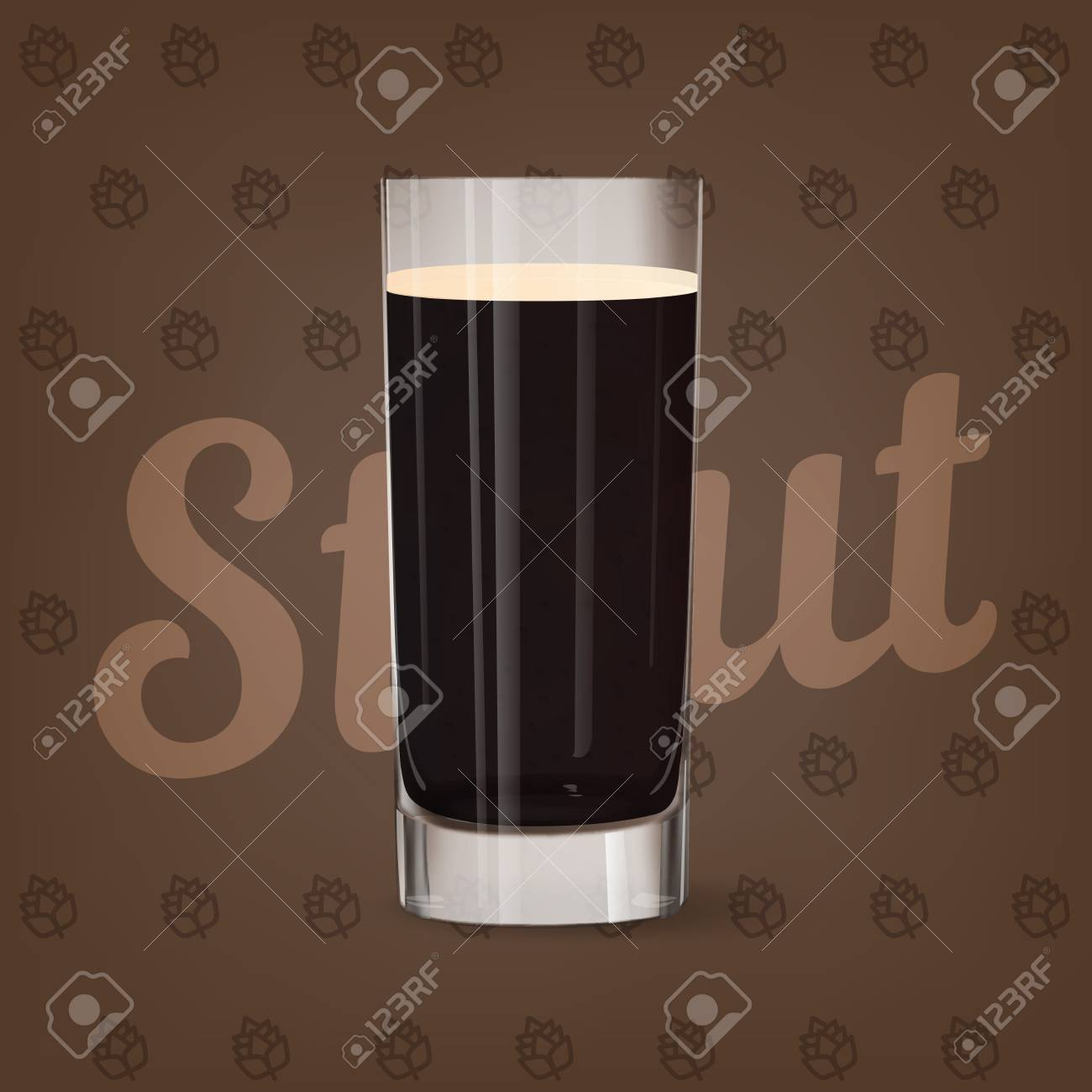 Vector image of fresh glass of beer - 84037568