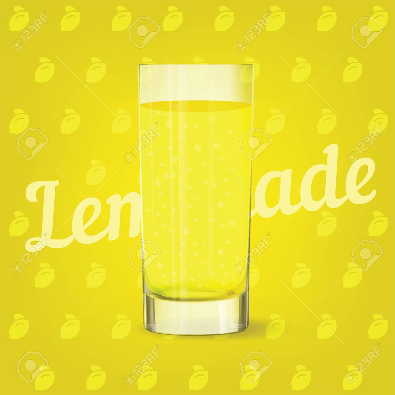 Vector image of fresh cool glass of lemonade - 84037581