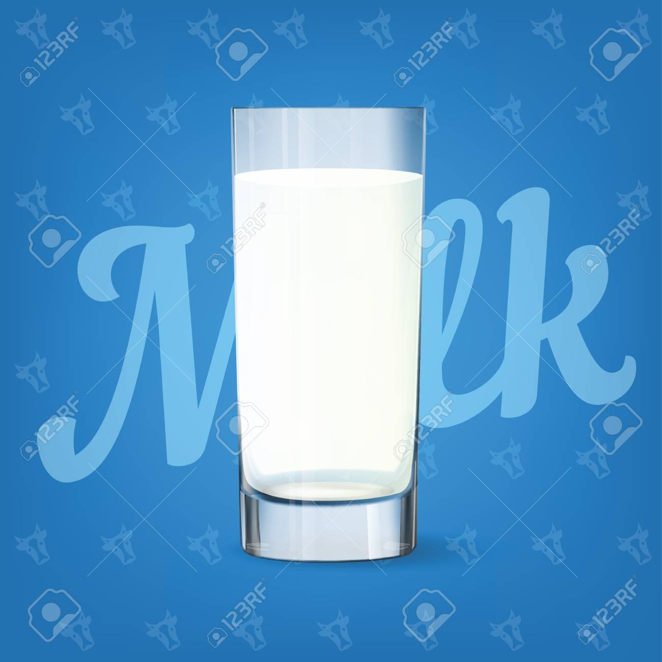Vector image of fresh milk glass - 84037570