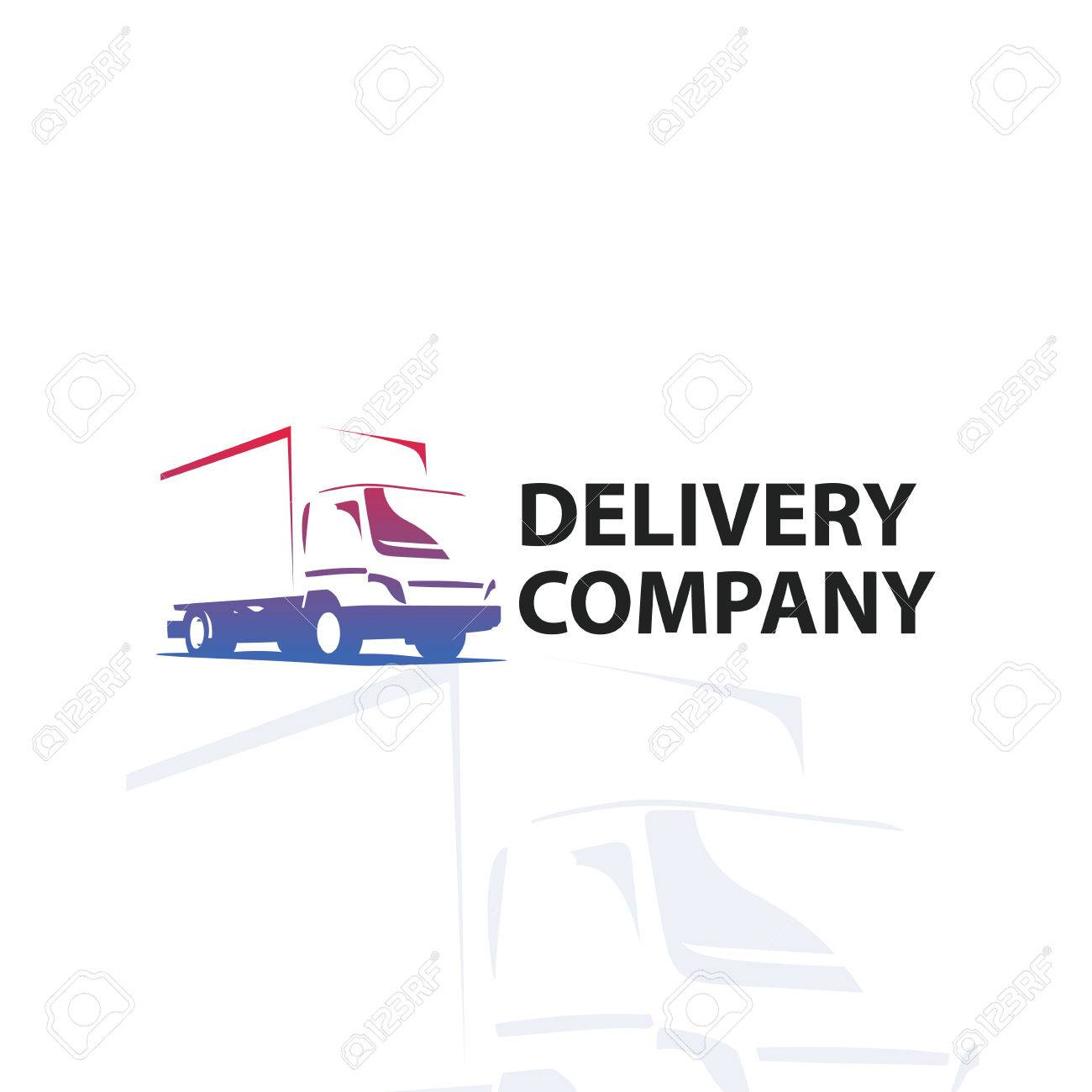 car repair or delivery service label vector logo design template