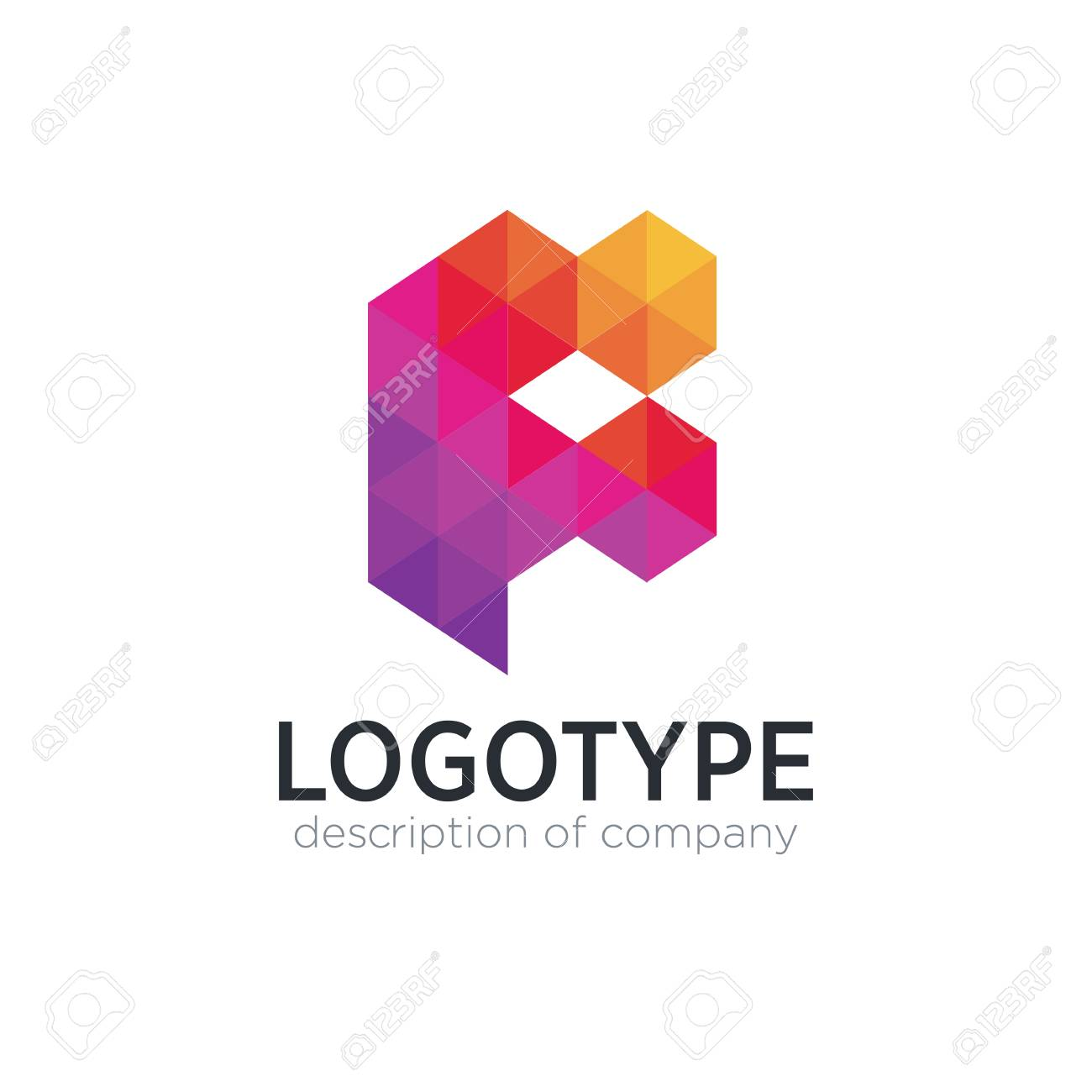 Abstract trend polygon letter F logo design template. - 83887447