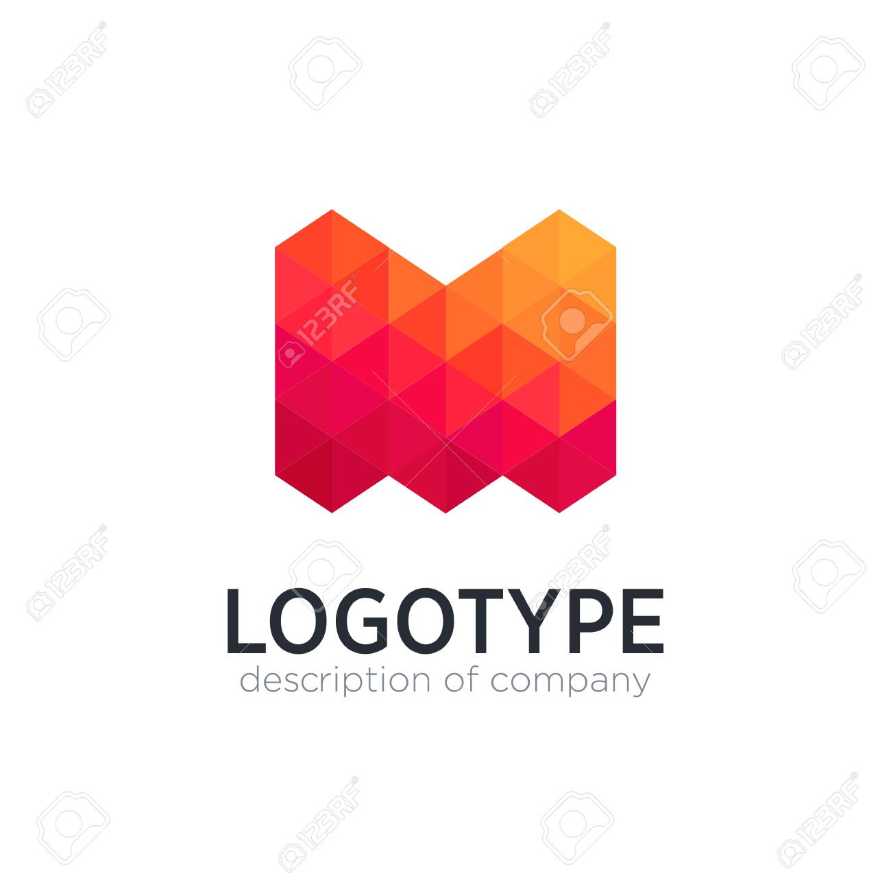 Abstract trend polygon letter M logo design template. - 83890915
