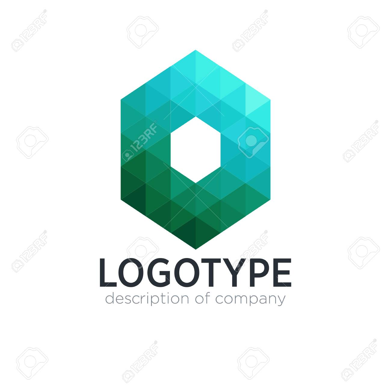 Abstract trend polygon letter O logo design template. - 83890916