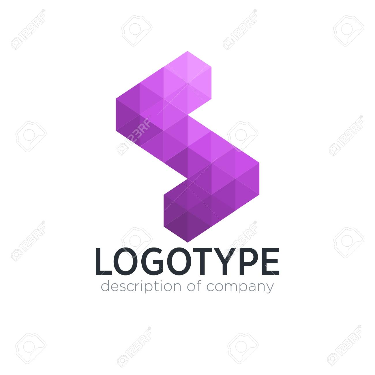 Abstract trend polygon letter S logo design template. - 83890917
