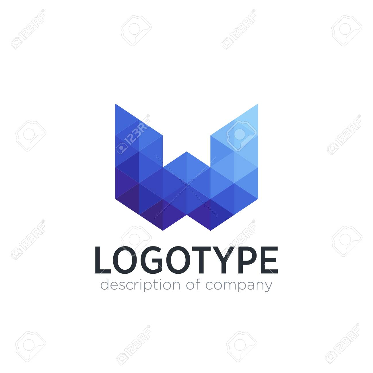 abstract trend polygon letter w logo design template stock vector 83759409