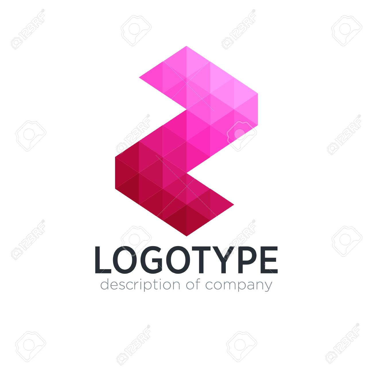 abstract trend polygon letter z logo design template stock vector 83859704