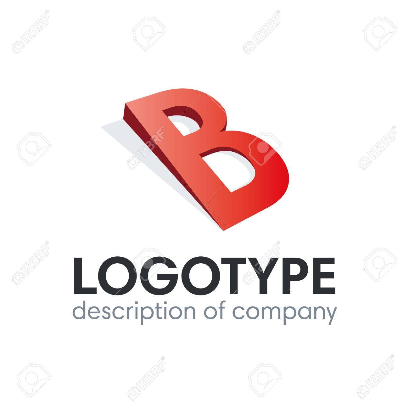 Letter B logo icon design template elements - 84037591
