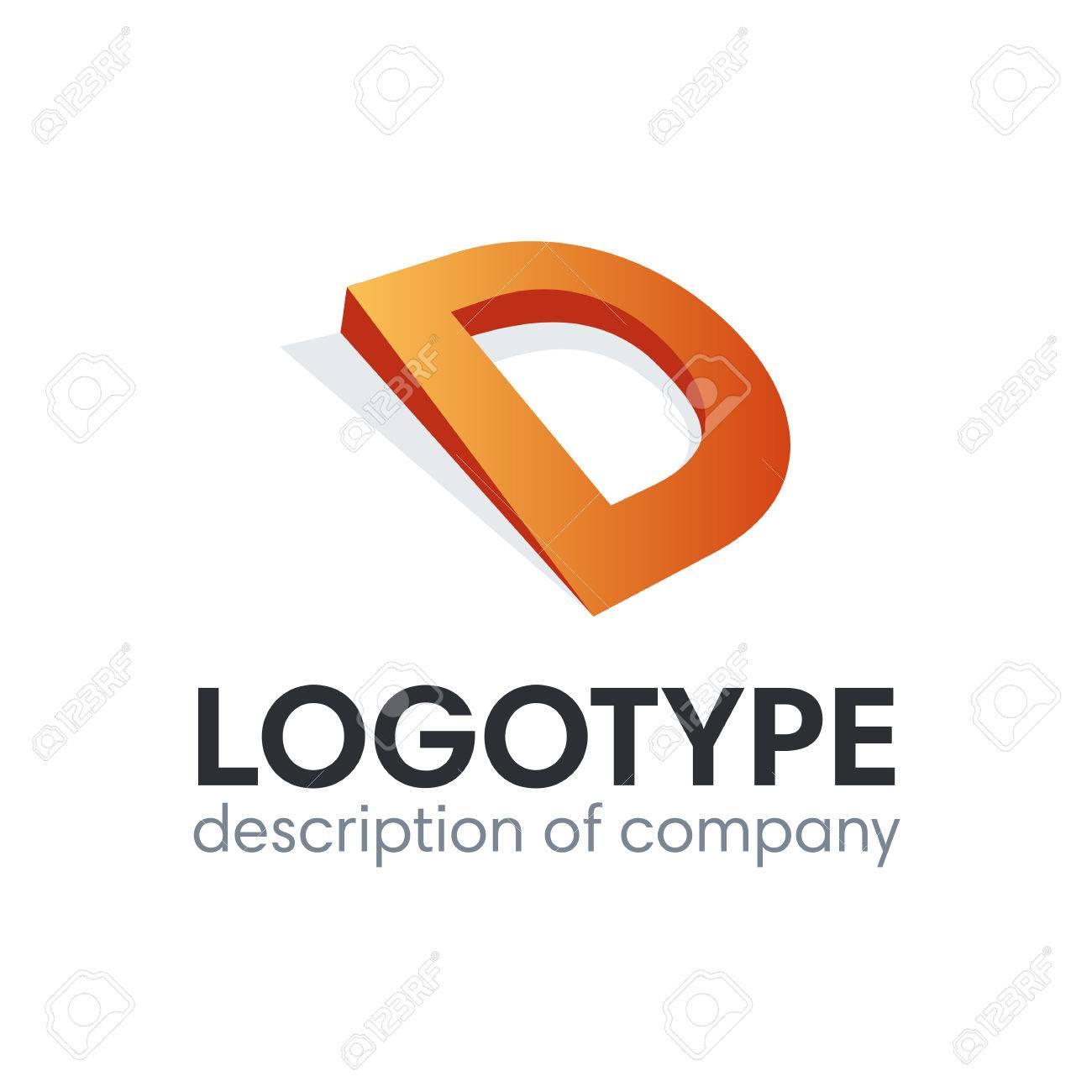 letter d logo icon design template elements - 84037595