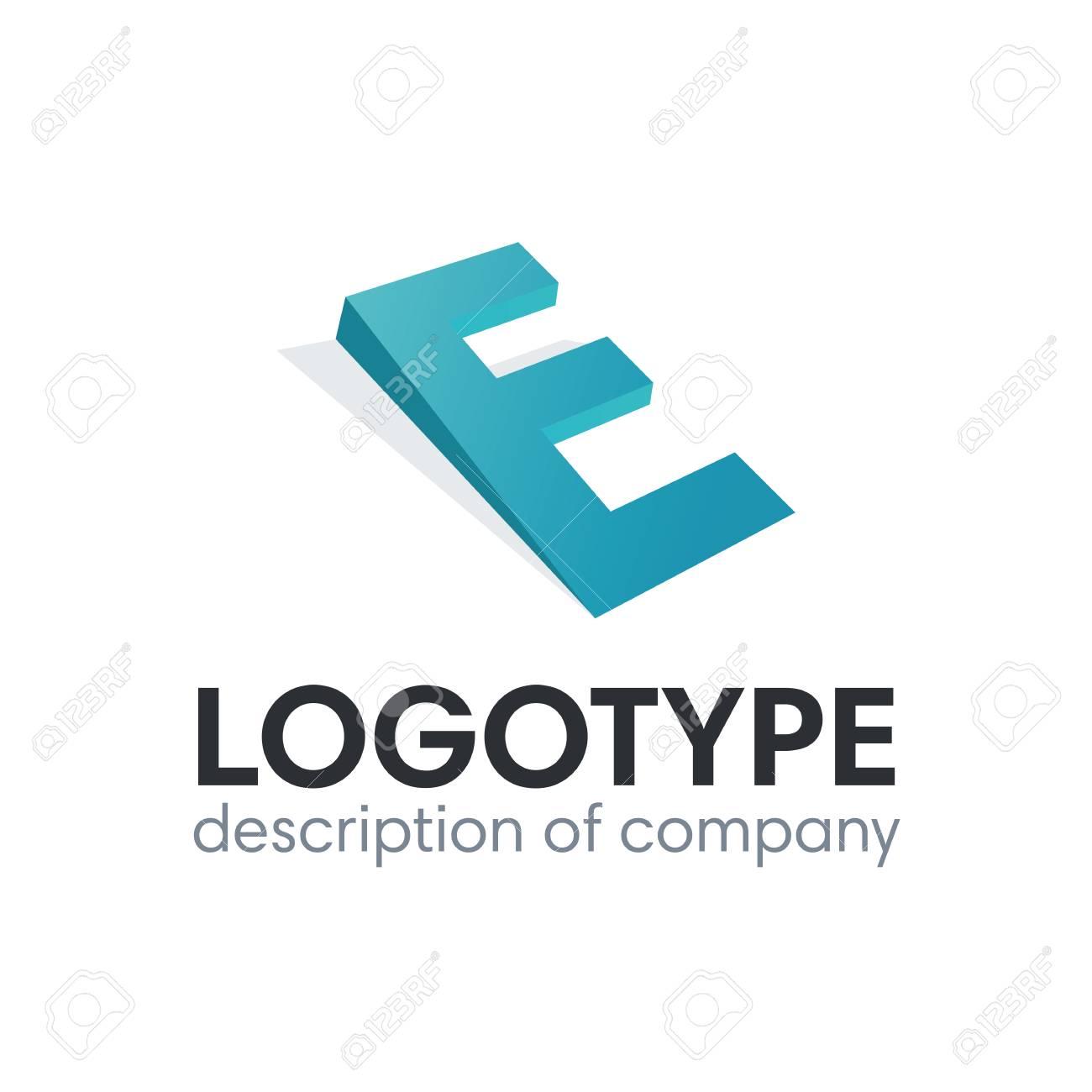 Letter E logo icon design template elements - 84037613