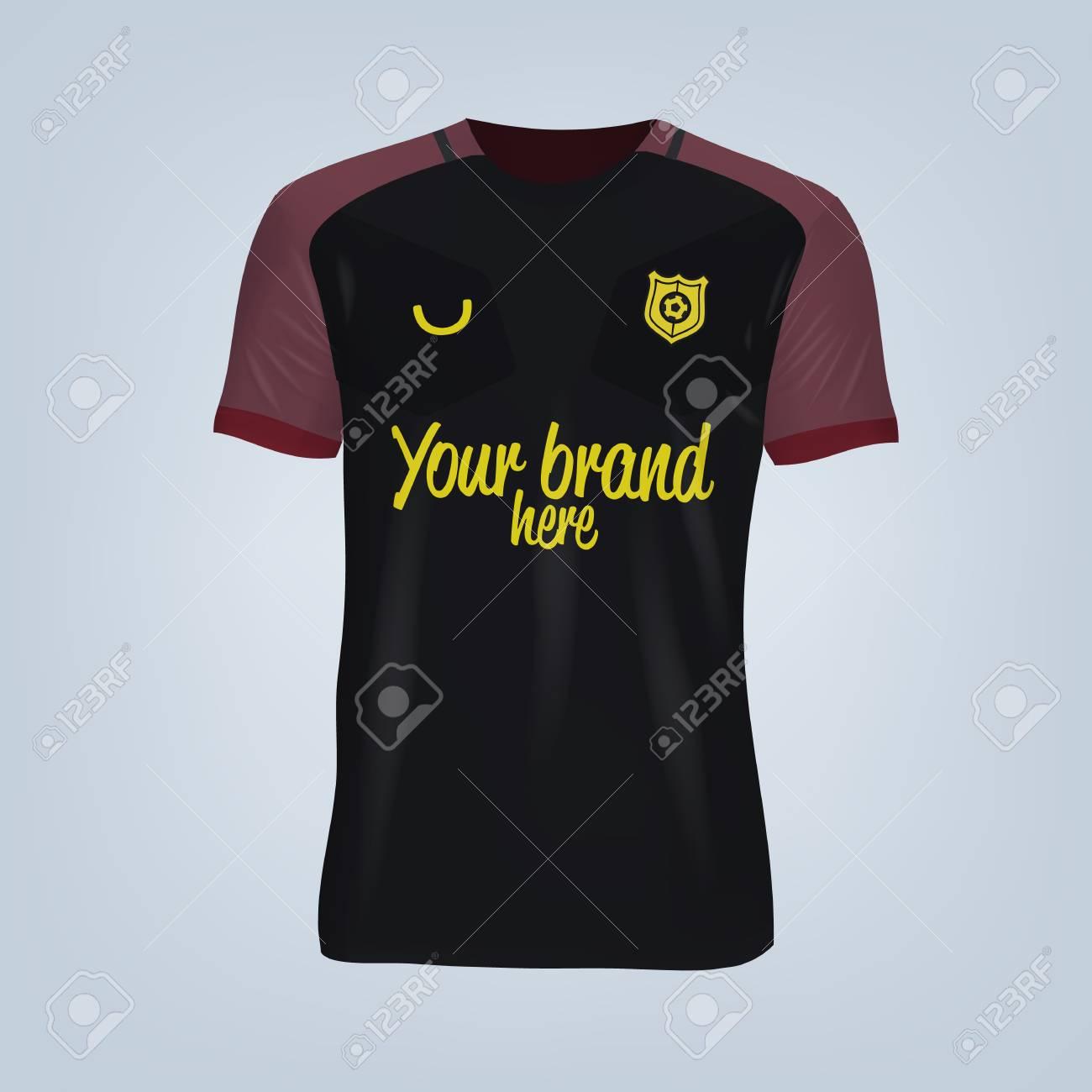 Vector illustration of football t-shirt template. - 84012152