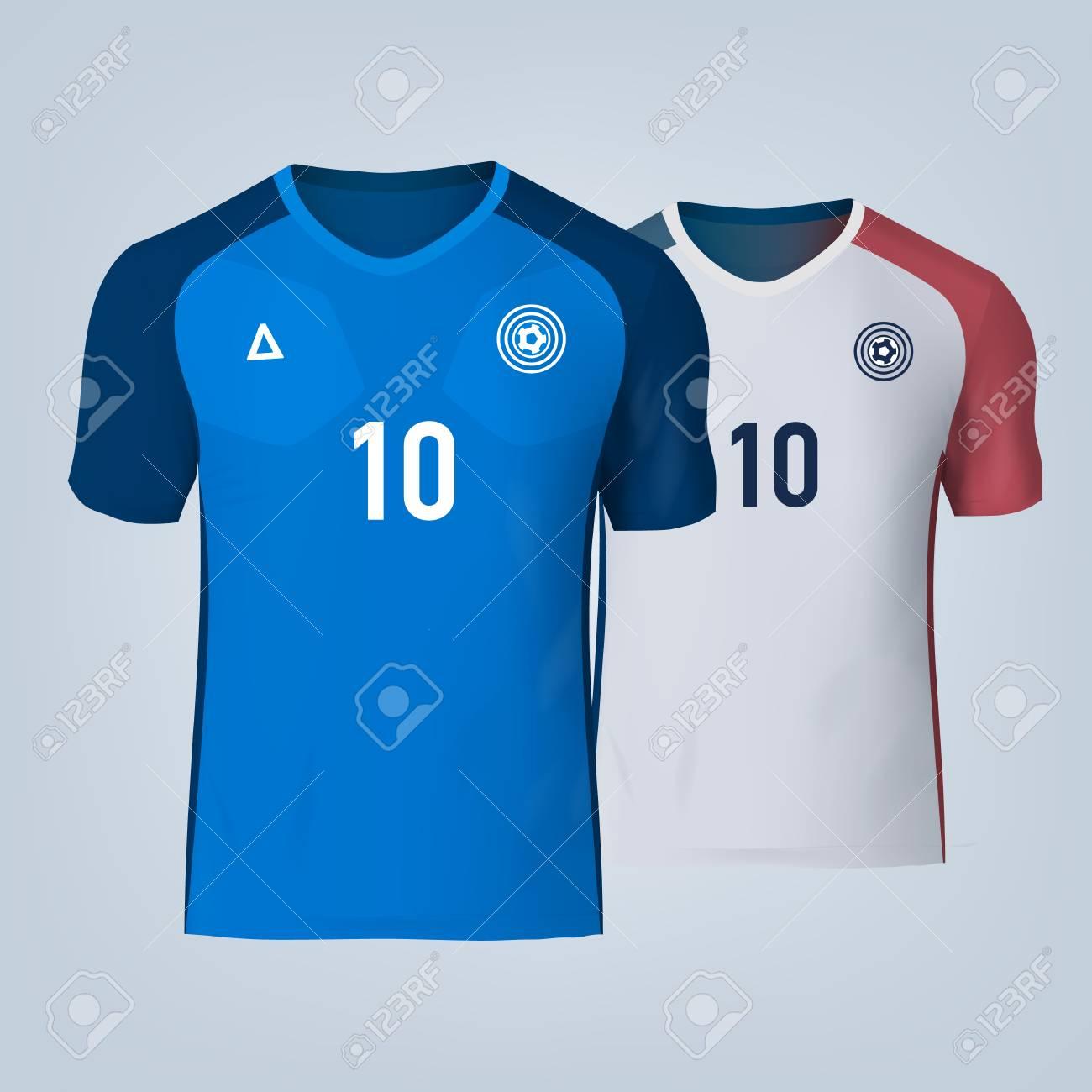 Vector illustration of football t-shirt template. - 84012293