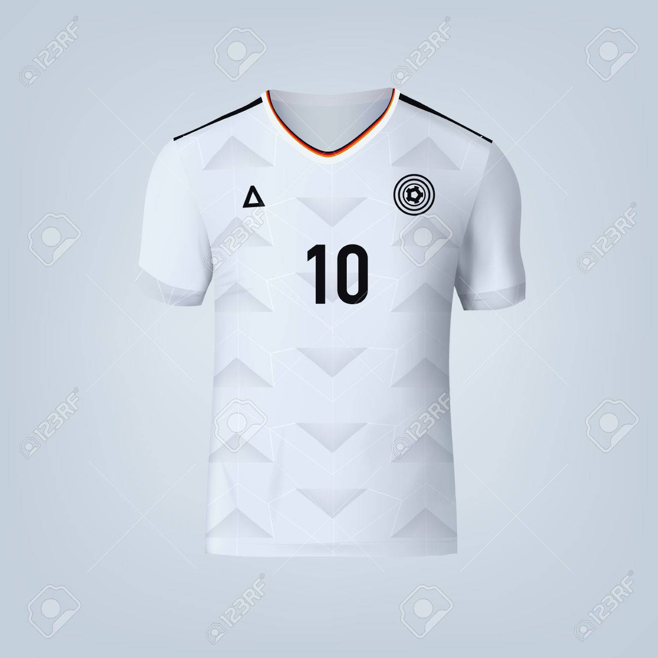 Vector illustration of football t-shirt template. - 84012295