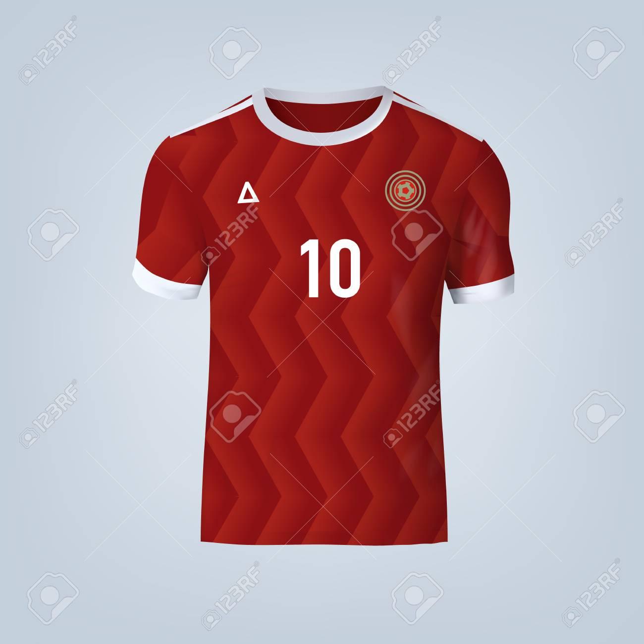 Vector illustration of football t-shirt template. - 84012298