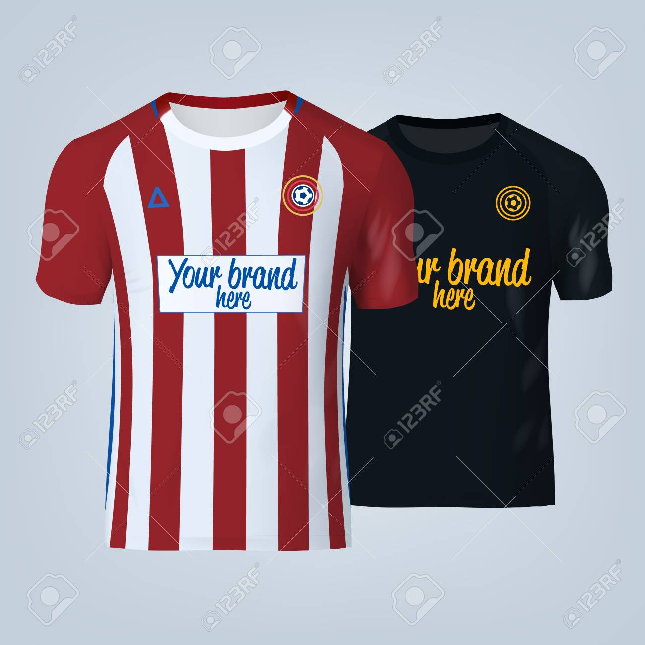 Vector illustration of football t-shirt template. - 84012292