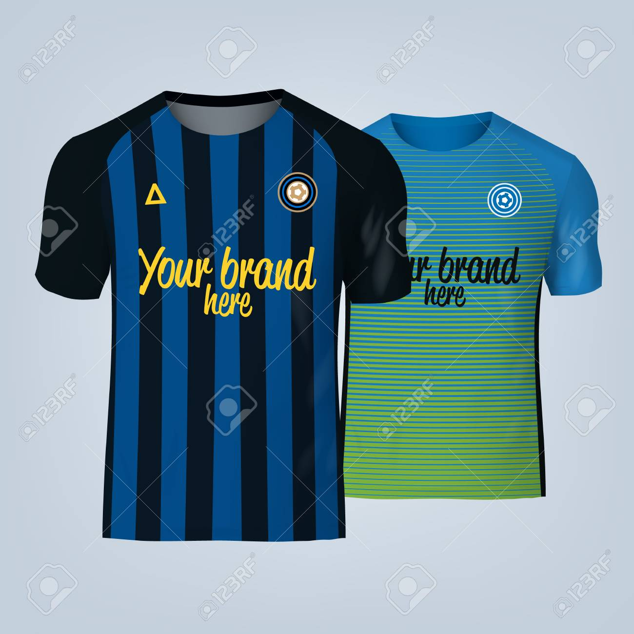 Vector illustration of football t-shirt template. - 84012297