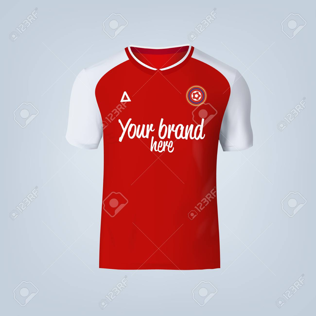 Vector illustration of football t-shirt template. - 84012301