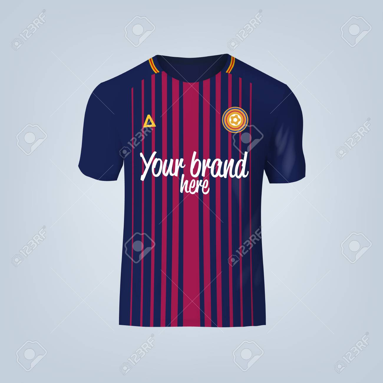 Vector illustration of football t-shirt template. - 84012300
