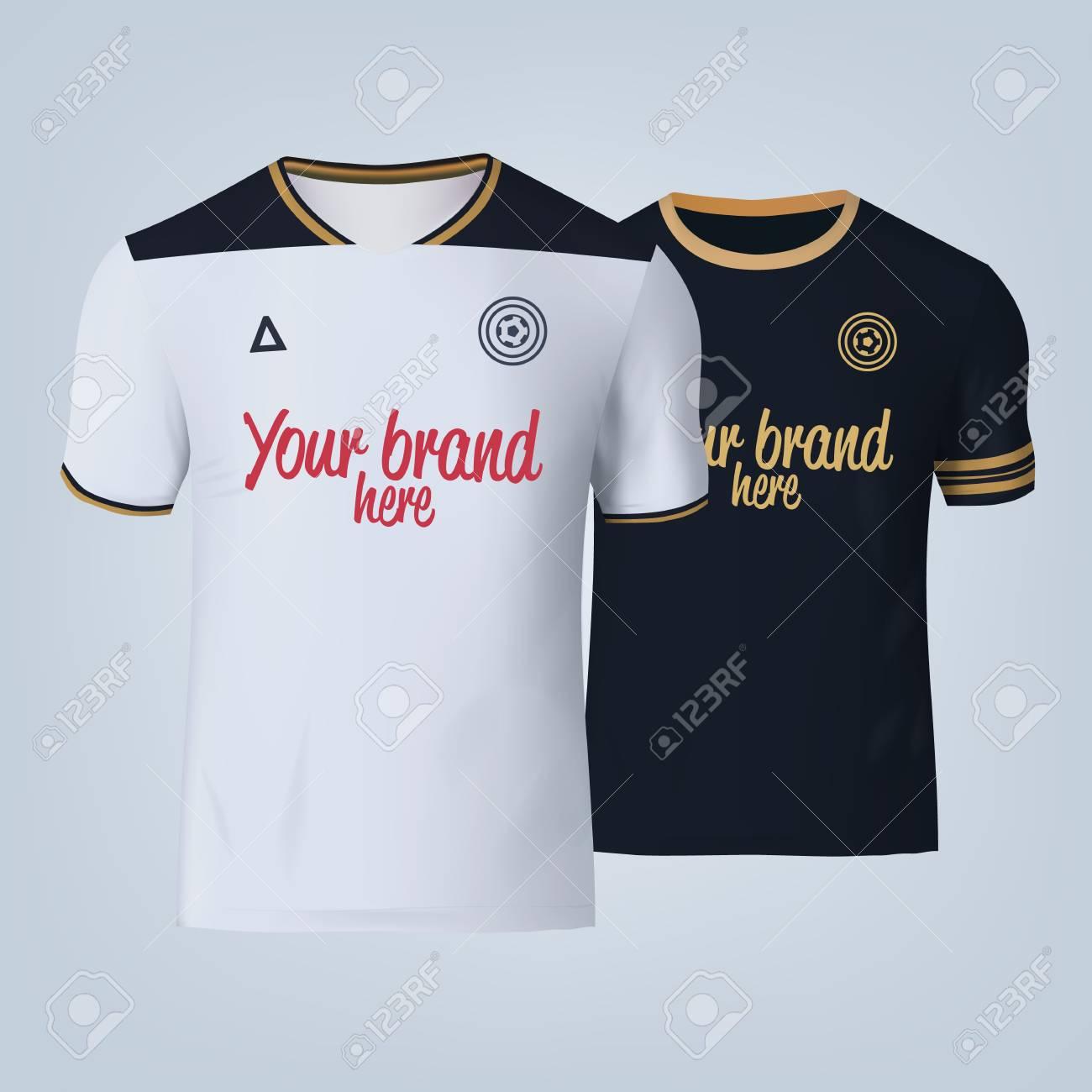 Vector illustration of football t-shirt template. - 84013132