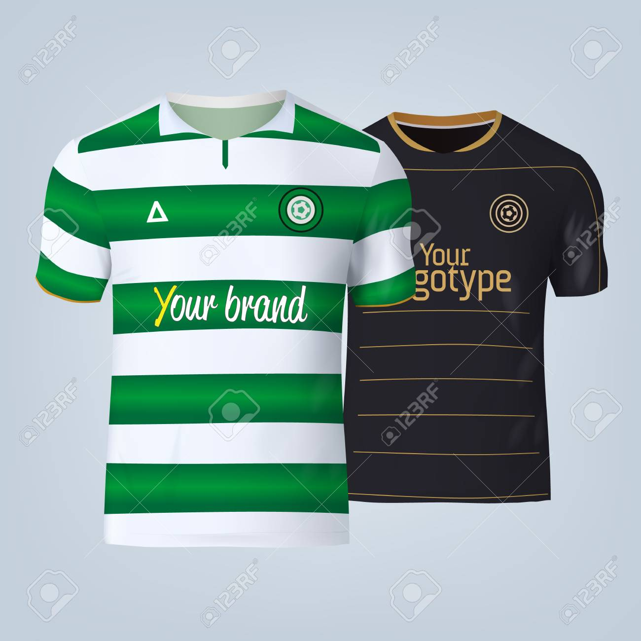 Vector illustration of football t-shirt template. - 84013134
