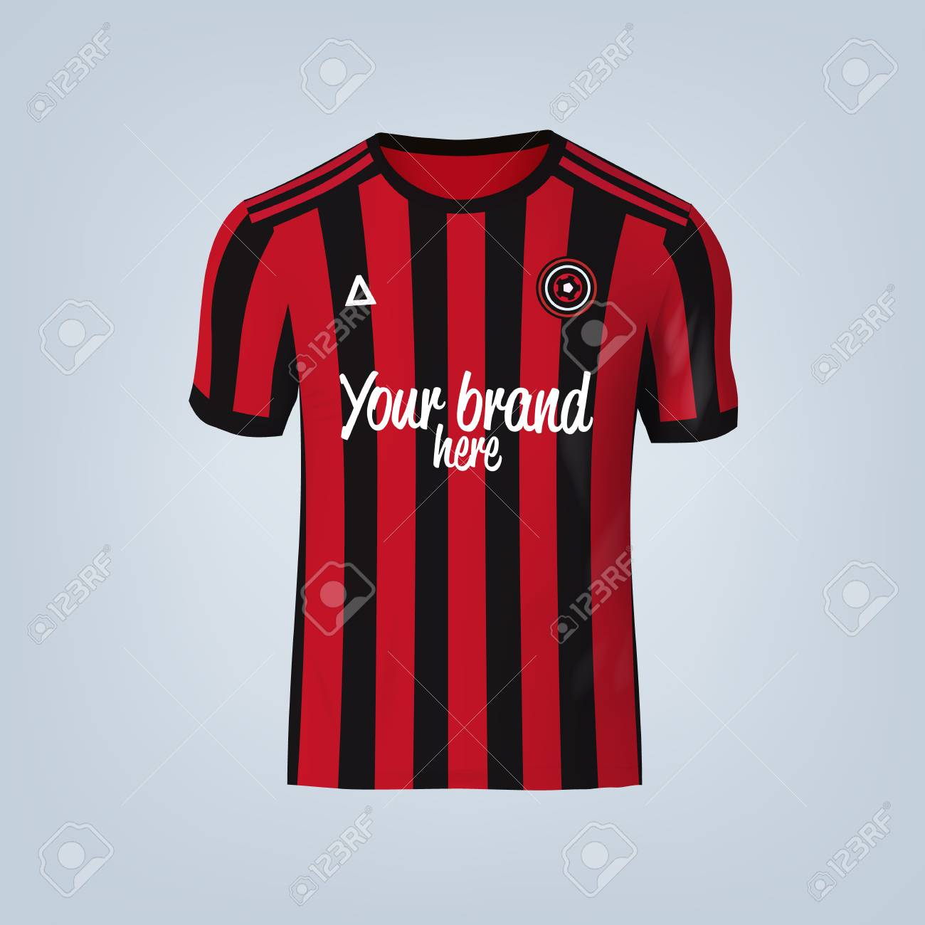Vector illustration of football t-shirt template. - 84013135