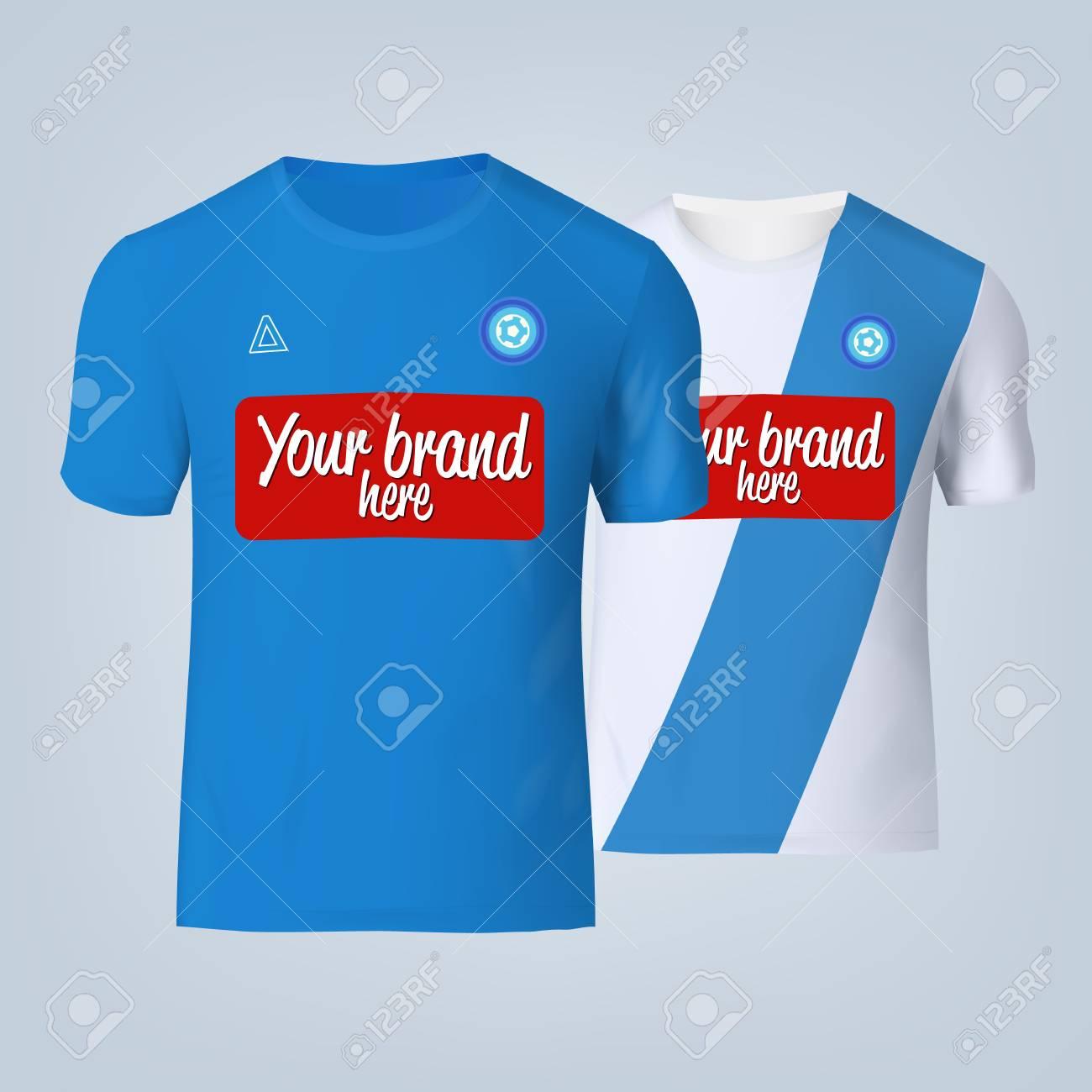 Vector illustration of football t-shirt template. - 84013133