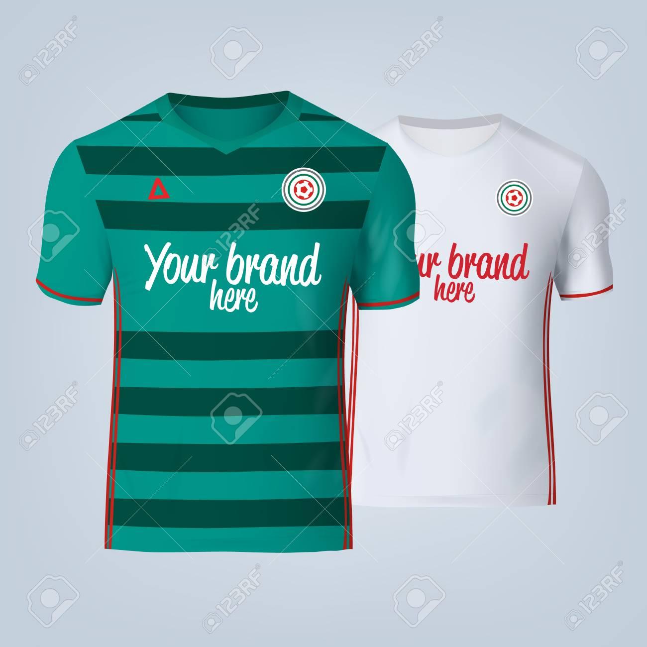 Vector illustration of football t-shirt template. - 84013143