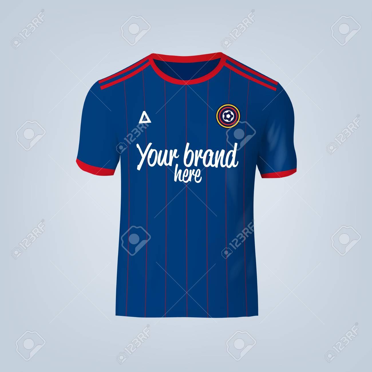 Vector illustration of football t-shirt template. - 84013142
