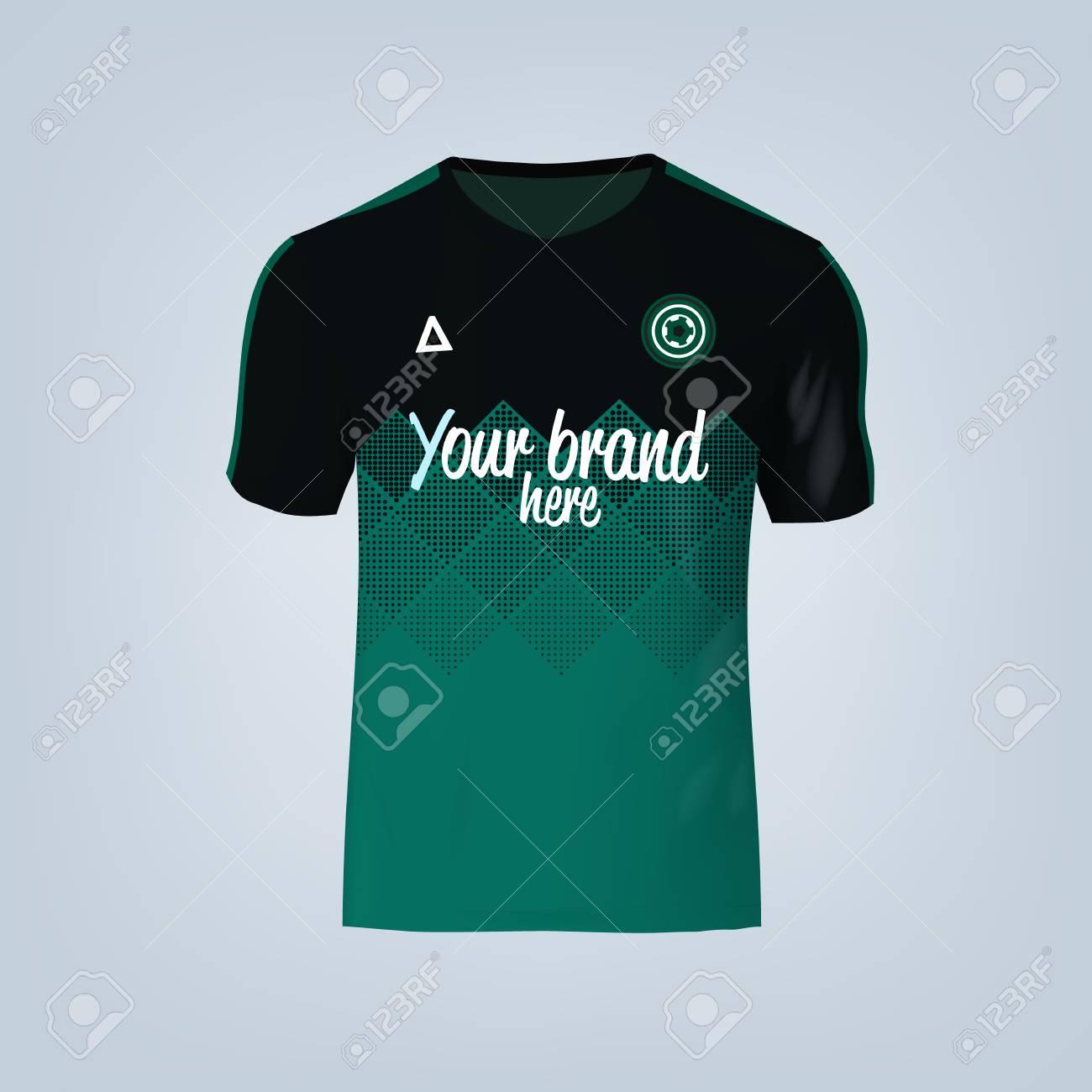 Vector illustration of football t-shirt template. - 84013209