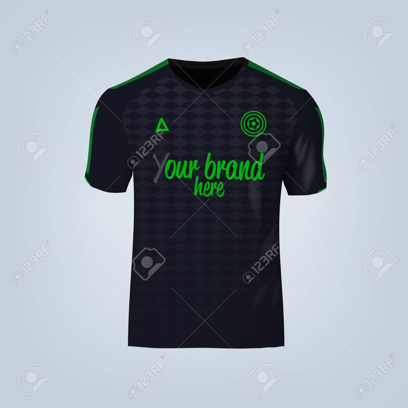 Vector illustration of football t-shirt template. - 84013213
