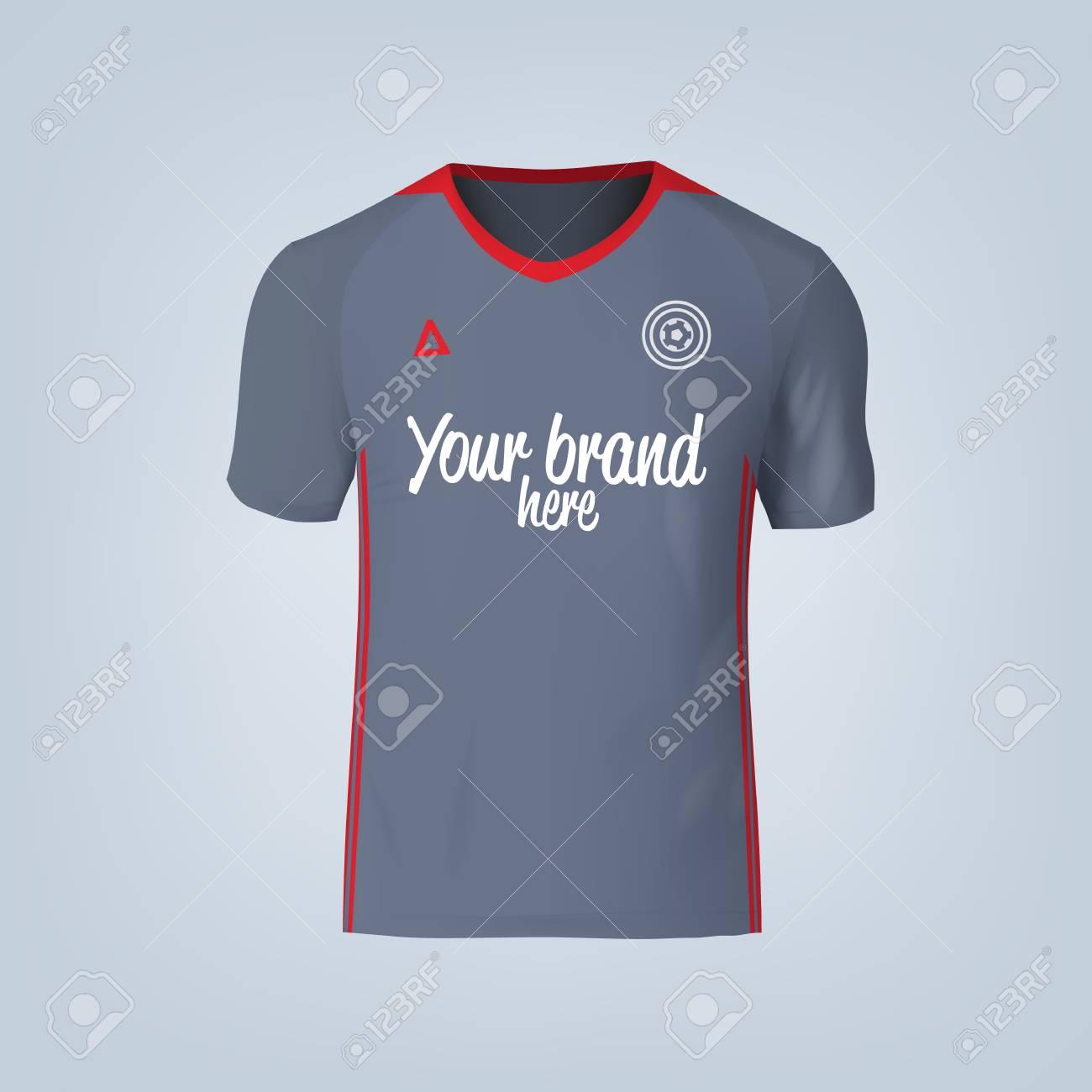 Vector illustration of football t-shirt template. - 84013212