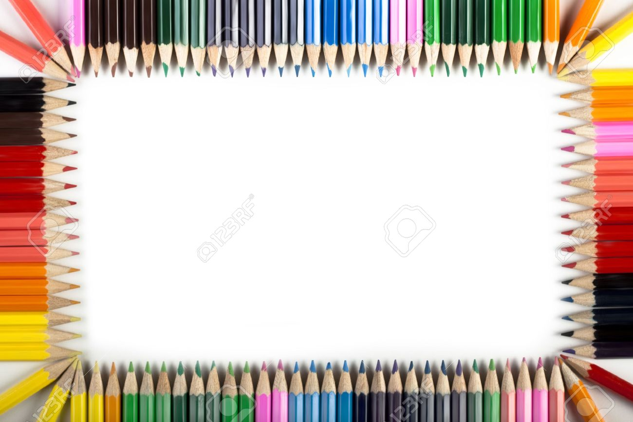 Colored Pencils Frame Stock Photo - 6120153